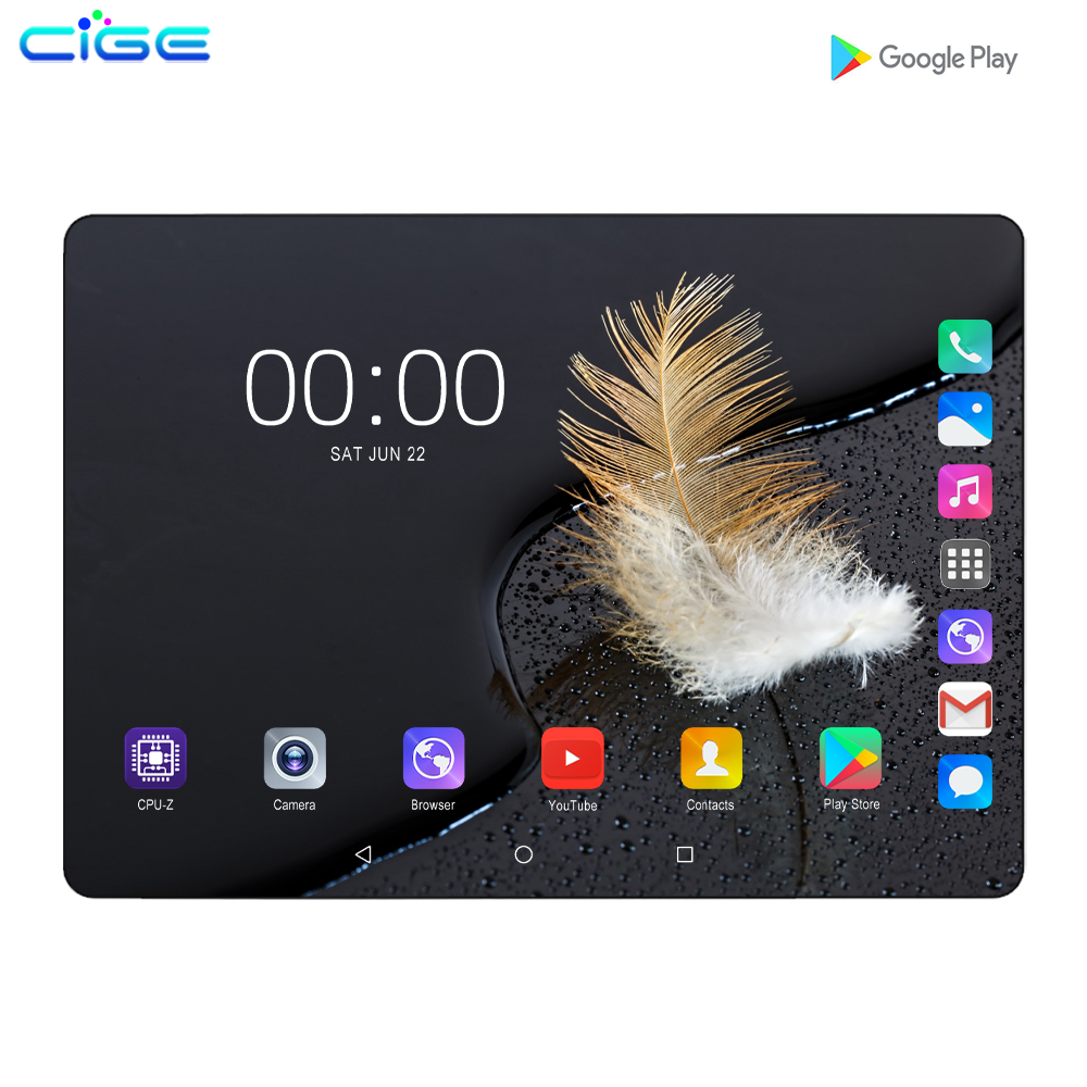10' Tablet Android 9.0 8 Core 6GB 128GB ROM Dual Camera 5MP 4G LTE Tablet PC Wifi Mirco Usb GPS Bluetooth Phone 10.1