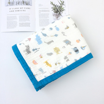 120x150CM 3 Layer Bamboo Cotton Baby Blanket ( 6 Layer Gauze) Soft Baby Blanket Bedding Winter Baby Blanket
