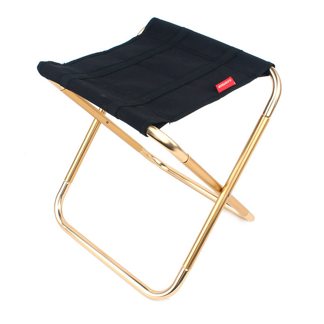 Outdoor Fishing Folding Chair Aluminum Alloy Black Barbecue Stool Folding Chairs Outdoor Barbecue Accessory Portable stool h3