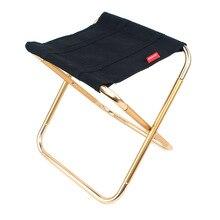Pêche en plein air chaise pliante en alliage daluminium noir Barbecue tabouret chaises pliantes en plein air Barbecue accessoire Portable tabouret h3