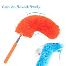 Pó flexível espanador superfine fibra doméstica poeira escova estiramento pena móveis limpo sem perda de cabelo
