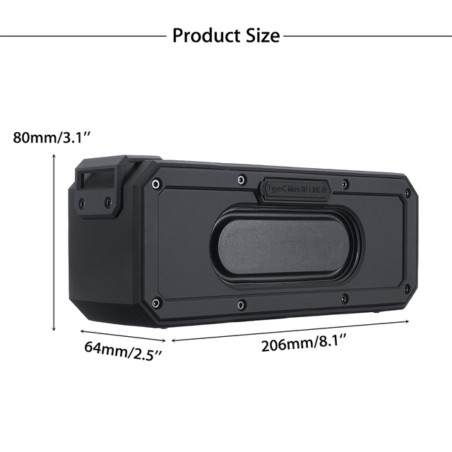Waterproof Bluetooth Speaker 40W support TWS Interconnection 6