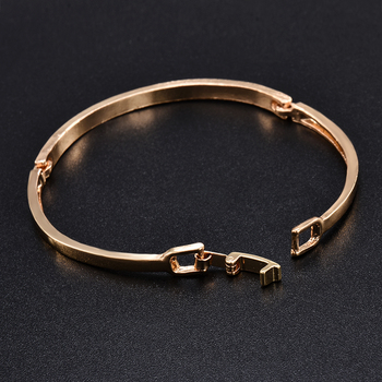 Fashion Gold Stainless Steel White Rhinestone Crystal Bracelet Women Wedding Party Cuff Bangle Bracelet Jewelry 5