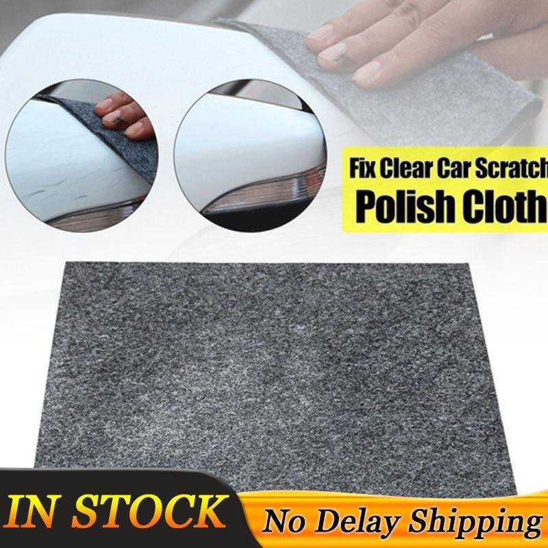 1x Fix Clear Car Scratch Nano Repair Cloth Magic Surface Repair Rags For Car Lights Paint Scratch Remover Scuffs Car Cleaner
