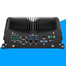 Fanless Mini PC Intel Core i5 8250U 6*DB9 RS232/422/485 Industrial 2*Gigabit Ethernet 6*USB LPT PS/2 4G SIM GPIO DDR4 Desktop i9