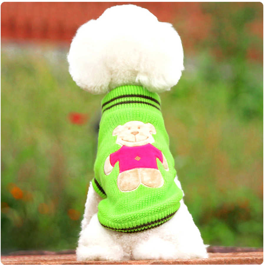 Đầm Phối Sọc Đan Chó Áo Len Chó Con Quần Áo Thiết Kế Chó Dây Nhảy Mèo Áo Mồ Hôi Đan Lông Hundepullover Quần Áo Thú Cưng Ấm DD6YF