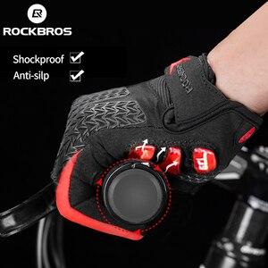 Image 4 - ROCKBROS rüzgar geçirmez bisiklet eldiveni dokunmatik ekran sürme MTB bisiklet bisiklet eldiven termal sıcak motosiklet kış sonbahar bisiklet eldivenleri