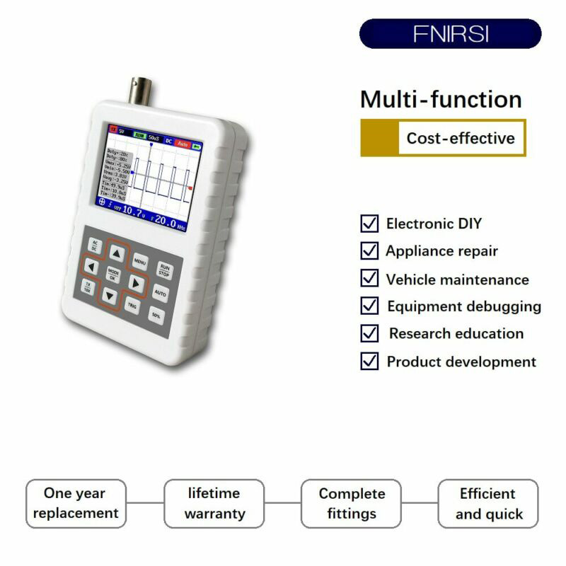 4pcs/Set DSO FNIRSI PRO Oscilloscope Host Kit Handheld Mini Portable Digital 5M Bandwidth 20MSps 107 * 70 * 24mm