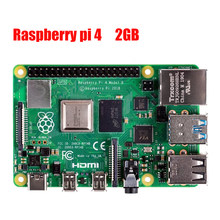 Latest Raspberry Pi 4 Model B with 2GB RAM BCM2711 Quad core Cortex-A72 ARM v8 1.5GHz Support 2.4/5.0 GHz In stock(China)