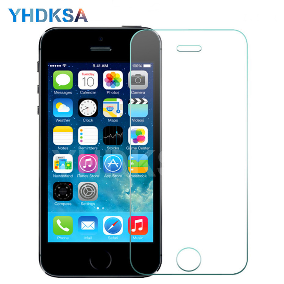 9H Tempered Glass On The For IPhone 5 5S SE 5C Anti-Burst Tempered Screen Protector Glass For IPhone 5S SE 4 4S Protective Film