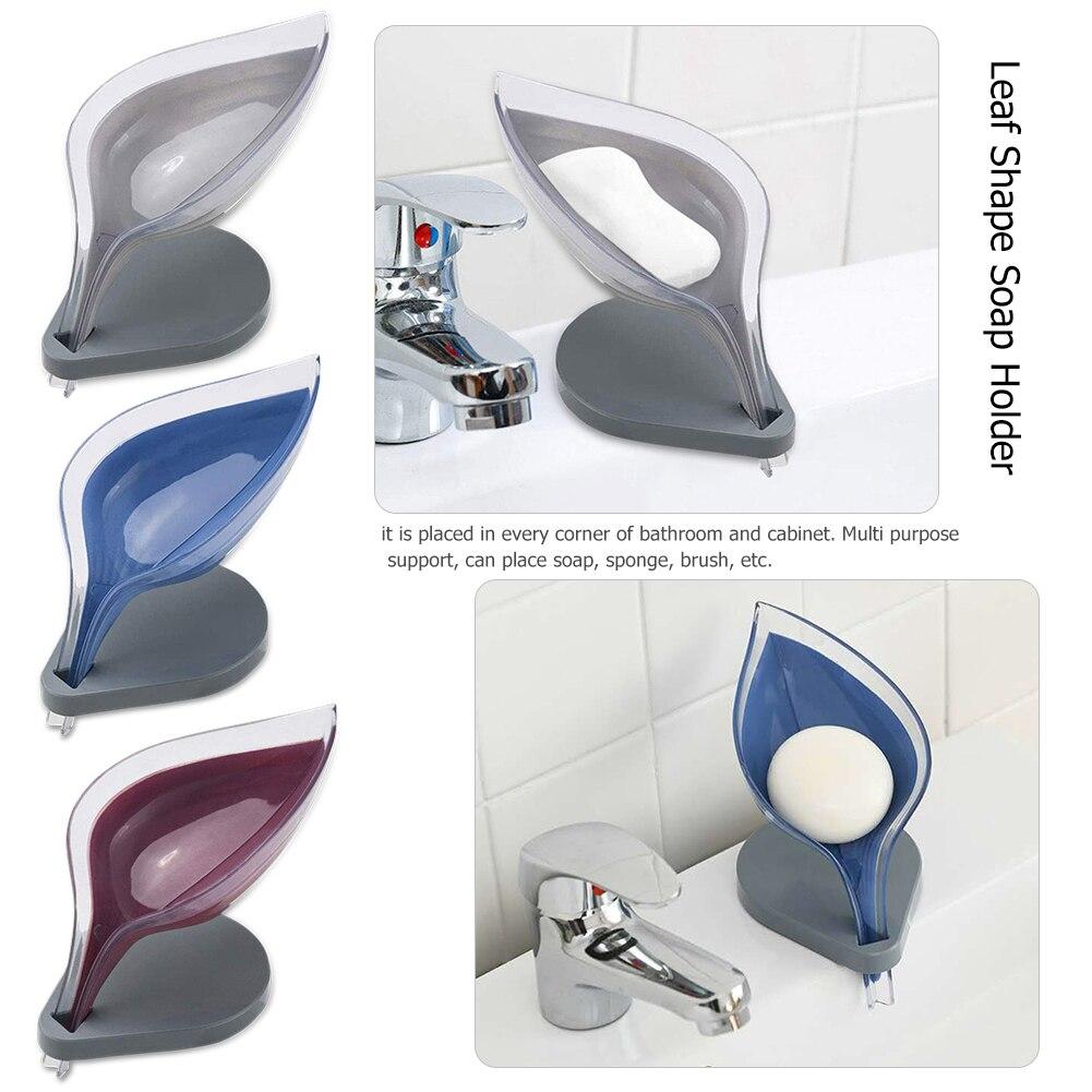 Case Plate-Tray Soap-Holder Dish-Storage Bathroom-Supplies Leaf-Shape