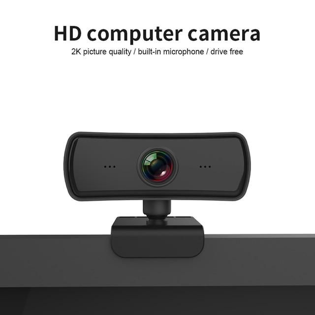 Webcam 2k 2040*1080p hd, câmera de computador e pc com microfone, câmeras rotativas para chamadas de vídeo em transmissão ao vivo trabalho de conferência 2