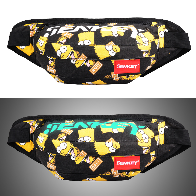2019 New Luminous Men Waist Bag Women Oxford Cloth Waist Packs Banana Belt Bag Male Waterproof Fanny Pack Phone Waist Pouch