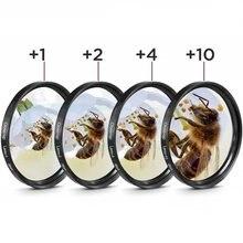 Mcoplus macro close-up filtro de lente 1 2 4 10 macro filtro 40.5 49mm 52 55 58mm 62 67 72mm 77 82 mm para câmara sony nikon canhão