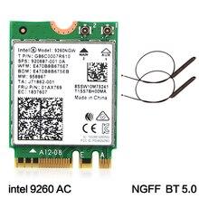Двухдиапазонный беспроводной-AC 9260 для Intel 9260NGW NGFF 802.11Ac MU-MIMO 1730 Мбит/с 1,73 Гбит/с WiFi+ Bluetooth 5,0 Карта подходит для Windows 10