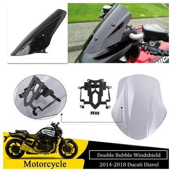 Motorcycle Accessories Windshield Windscreen Flyscreen Wind deflector Fly Screen for 2014 2015 2016 2017 2018 Ducati Diavel