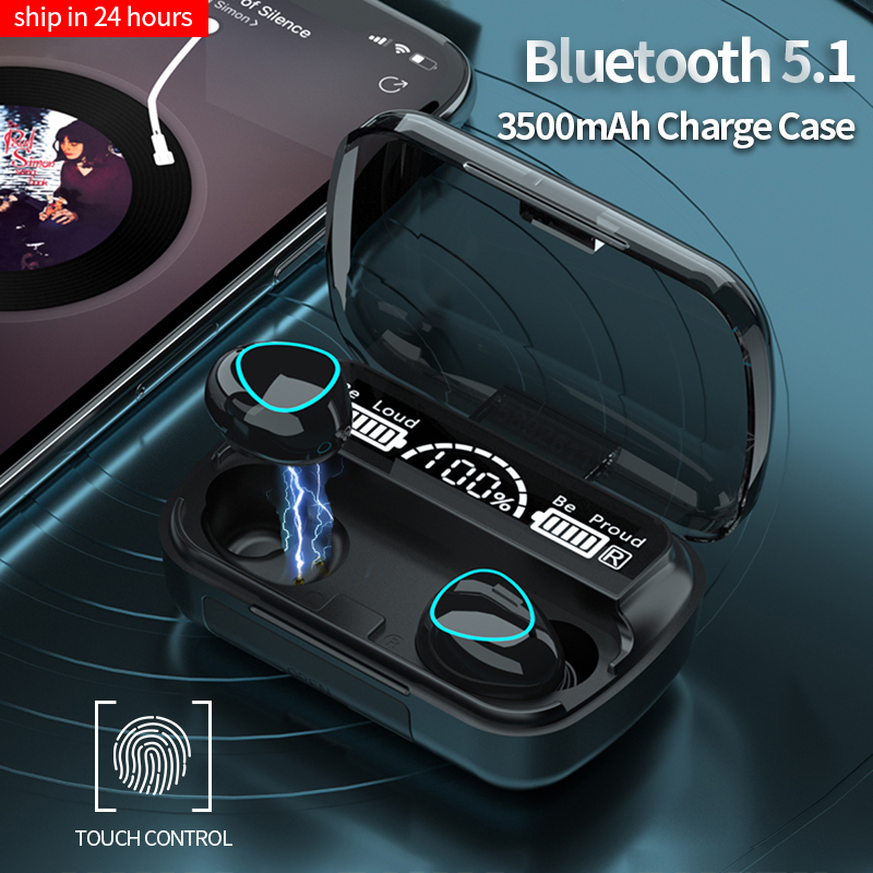 TWS-стереонаушники спортивные водонепроницаемые с поддержкой Bluetooth 3500 и светодиодный ным управлением