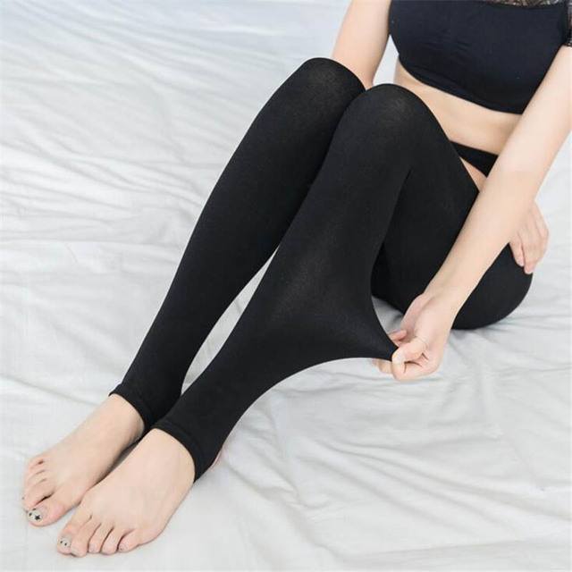 Women High Elasticity Leggings 2019 Autumn Winter Thick Warm Legging Brushed Lining Stretch Fleece Pants Trample Feet Leggings 2