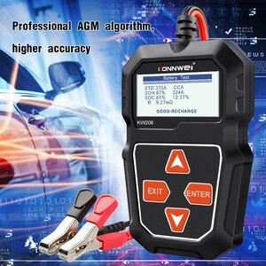 Image 4 - KONNWEI KW208 جهاز اختبار بطارية السيارة الرقمية 12 فولت 100 2000CCA التحريك نظام شحن اختبار أداة بطارية سيارة اختبار قدرة