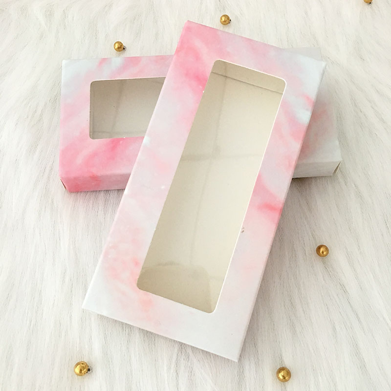 20pcs/lot Mink Lash Box Lashes Tray Insert Eyelash Marble Packaging