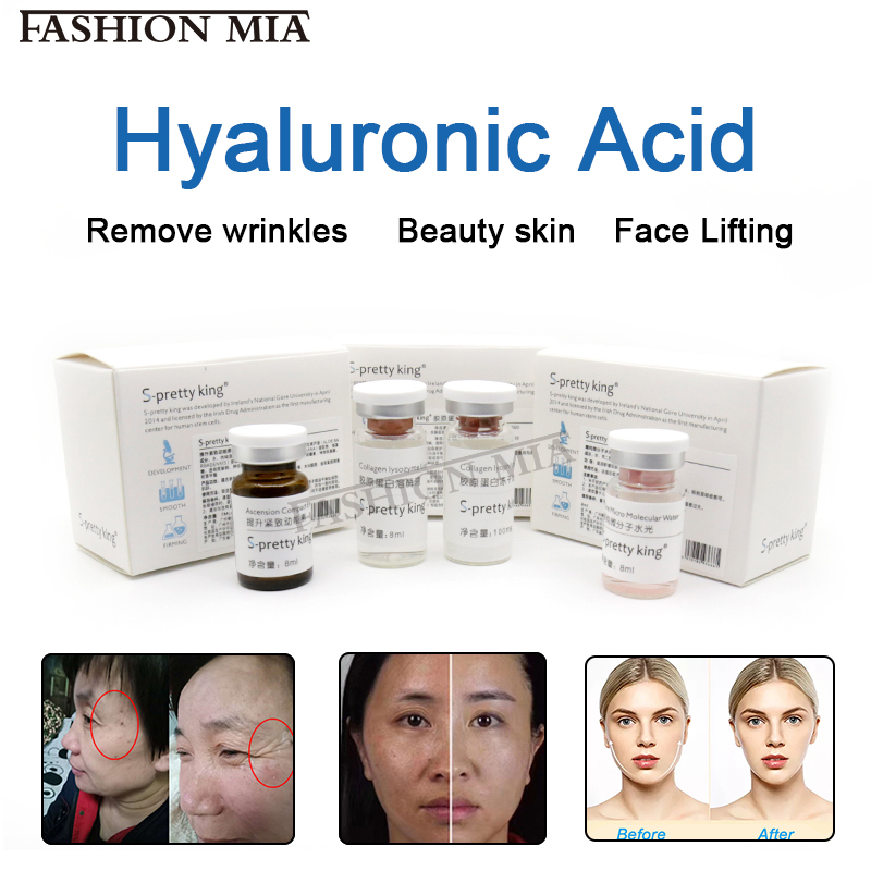 Non-animal 100% Cross-linked HA Hyaluronic Acid For Face Remove Wrinkles Beauty Skin Face Lifting Use For Atomizer Hyaluron Pen