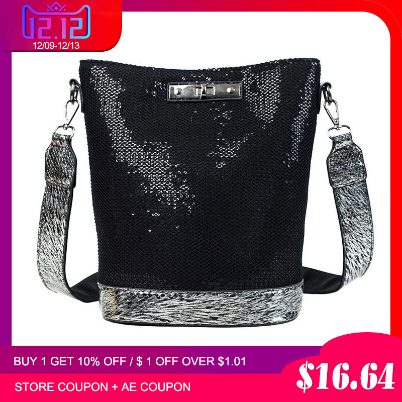 2019 Spring New Arrival Sequins Women Bag Fashion Handbag Luxury Leather Shoulder Bags Small Crossbody Bags For Women Brand Sac