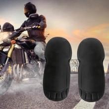 2Pcs EVA Detachable Motorcycle Clothing Dual Use Elbow & Knee Pad Protector Motorbike Protective Gear Black Universal