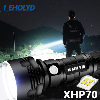 XHP70 Super Powerful LED Flashlight L2 Tactical Torch USB Rechargeable Linterna Waterproof Lamp Ultra Bright Lantern Camping 1809cob super powerful led flashlight xm l2 u3 tactical torch lamp ultra bright lantern usb rechargeable linterna waterproof