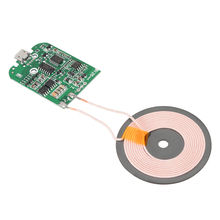 For Mobile PhoneQi Wireless Charging Standard Qi Fast Wireless Charger PCBA Circuit Board Transmitter Module Coil Charging 10w high power fast charging 3 coil diy wireless charging module pcba qi mobile wireless charging board