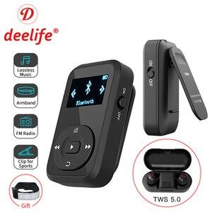 Image 1 - Deelife Sport Kit Met Bluetooth Mp3 Speler En Tws Echte Draadloze Bluetooth Hoofdtelefoon Voor Running Jogging Met Fm Record