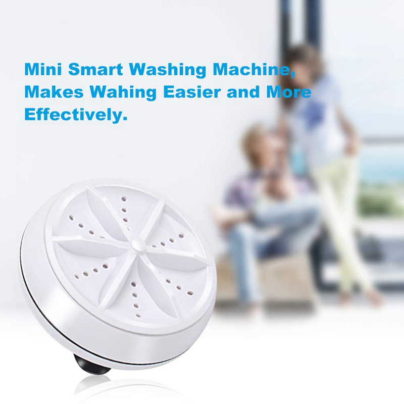 Mini Washing Machine 3 In 1 Portable Personal Travelling Rotating Ultrasonic Turbine Washing Adjustable With USB Cable Convenien