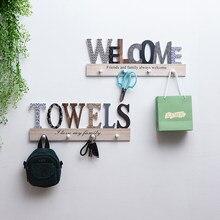 Minimalist Wooden Door Hanger Wall Shelf Wall-mounted Coat Hook Wall Hooks Decorative Decorative Hooks