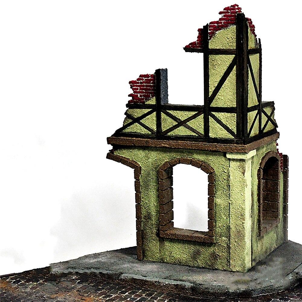 #N//A//a Escala 1//35 DIY Modelo de Construcci/ón Arquitectura de Madera Ruinas Paisaje