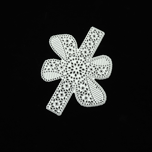 JC métal découpe matrices Rosette fleur dentelle barre Scrapbooking à la main poinçon carte faisant forme pochoir artisanat moule moule modèle décor