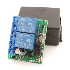 Image 5 - 433Mhz Universele Draadloze Afstandsbediening DC12V 2200W 2CH Rf Relais Ontvanger Voor Universele Garage En Deuropener Controller