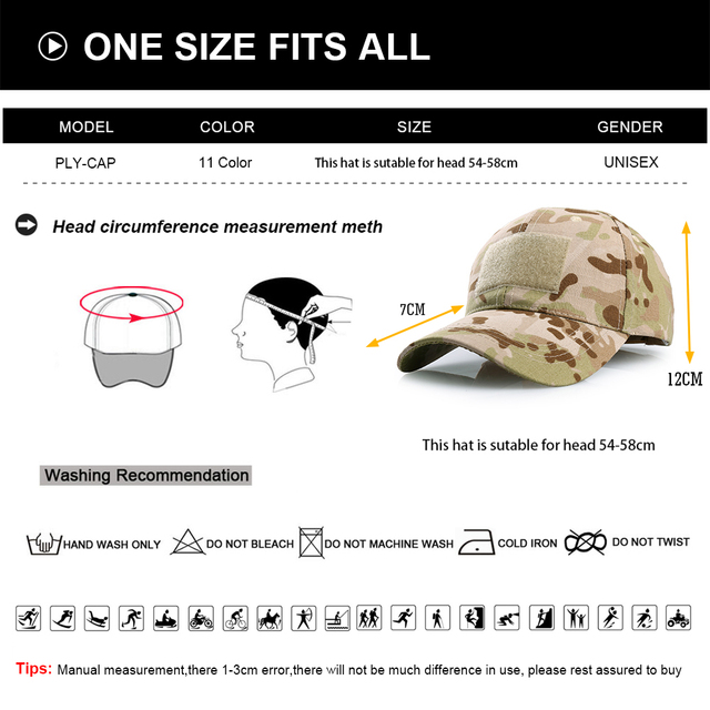 Outdoor Multicam Camouflage Adjustable Cap Mesh Tactical Military Army Airsoft Fishing Hunting Hiking Basketball Snapback Hat 6