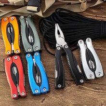 Pince multifonctionnelle pour Camping en plein air, alpinisme, pliante, Portable, combinaison, couteau