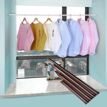 Multifunction Adjustable Bathroom Shower Curtain Rods Metal Voile Extendable Rod