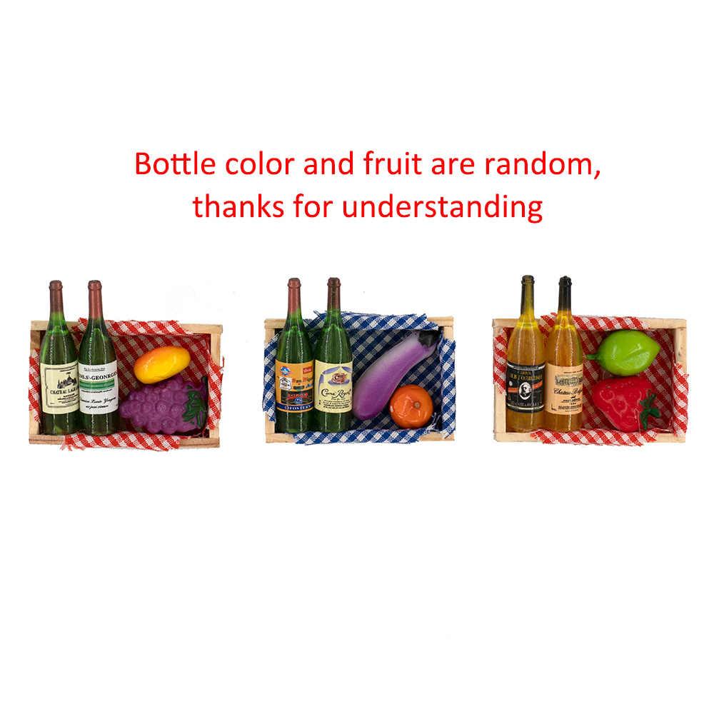 1 adet RC araba aksesuarları dekorasyon Mini şarap şişesi seti kutusu 1/10 RC kaya paletli eksenel SCX10 TAMIYA c01 D90 TF2 TRX4