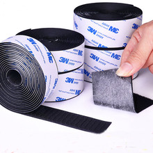 1M Self adhesive velcro tape 3M Glue Hooks and Loops fastener Stickers for Mat Carpet Anti Slip Cable Ties Sewing Accessories