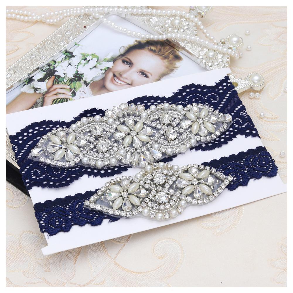 MissRDress Garter Belt Wedding White Lace Garter Set Bridal Garter Set Crystal Bridal Garter Wedding Womens Garter Wedding Gift