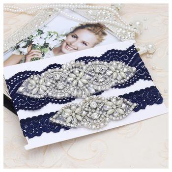 MissRDress Garter Belt Wedding White Lace Garter Set Bridal Garter Set Crystal Bridal Garter Wedding Womens Garter Wedding Gift фото