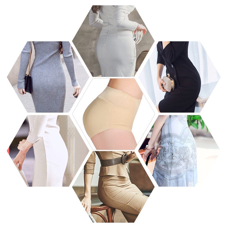 CXZD Women Butt Lifter Lingerie Fake Ass Brief Hip Up Padded Seamless Butt Hip Enhancer Shaper Panties Shapers (5)