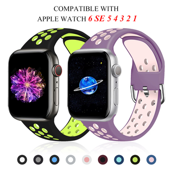 port silicone bracelet for apple watch band strap 42mm 38mm iwatch series 3 2 1 wrist belt camouflage watchband metal buckle Strap for Apple watch band 5/40mm/44mm/42mm/38mm Accessories Silicone belt Sport bracelet iWatch series 5 4 3 2 1 SE 6 Watchband