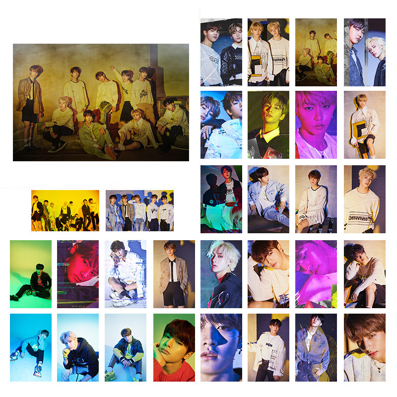 30pcs/set Kpop Stray Kids Photo Card Yellow Miroh Yellow Wood Album Lomo Card Photocard Kpop Stray Kids New Arrivals