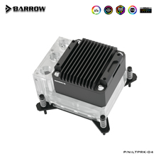 Barrowch CPU Block Pompa Serbatoio Tre In Uno, 17W PWM Intelligente Pompa, OLED Display Digitale, FBLTPRK-04/LTPRK-04
