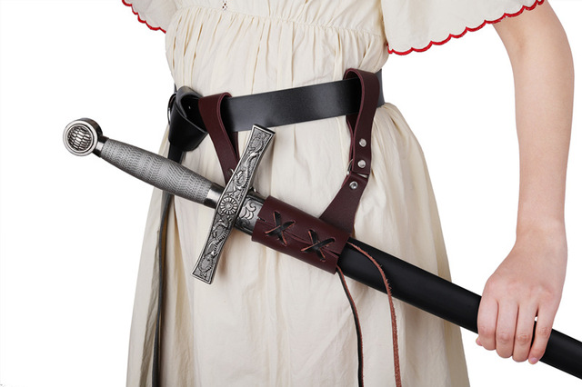 Porte-épée de style Renaissance médiévale pour hommes, fourreau à la taille, Larp Warrior, Pirate, Knight, Cosplay, sangle à boucles, en cuir