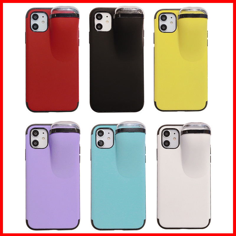 Fashion 2In1 Phone Case With Earphone Case For Airpods, Silicone Phone Case For Iphone 11 Pro 6 7 8 Plus Xs X Max Protective