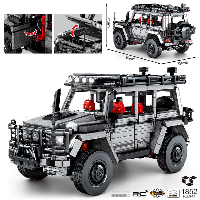 MOC 1852pcs City Classic High-Tech Car Off-Road Vehicle Speed Champions Building Blocks Bricks Model DIY Toys for Kids Gifts 1