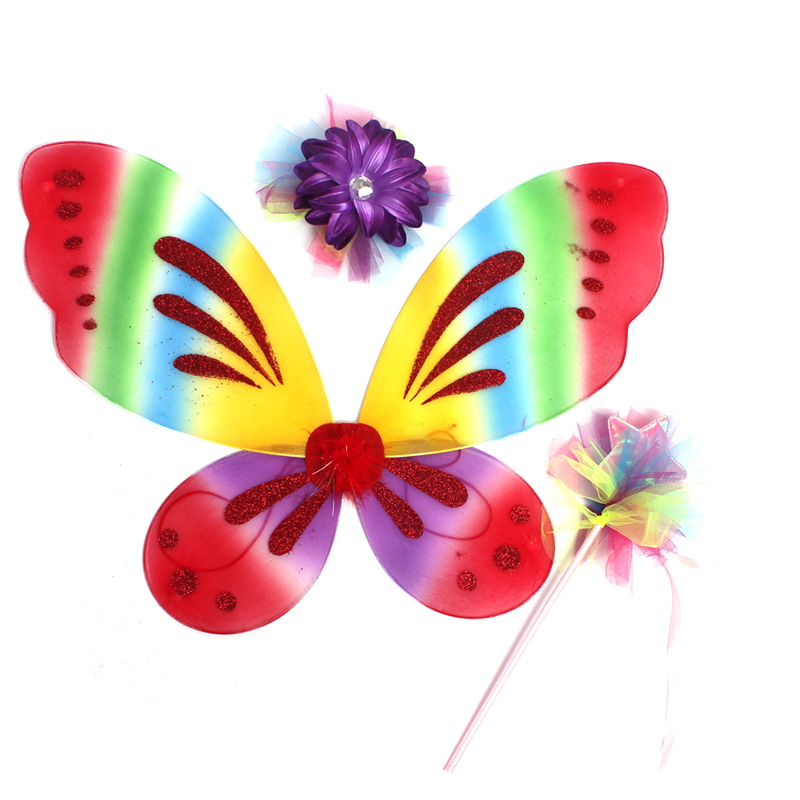 Girls Butterfly Fairy Fancy Tutu Dress Wings Costume Kids Princess Birthday Party Dress Halloween Cosplay Kids Spring Tulle Dress (13)